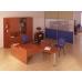 Шкаф офисный фасад ДСП / стекло A4.07.21
