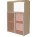 Шкаф низкий ПР602.3 (тонированное стекло)