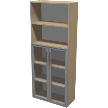 Шкаф для документов ПР601.12 (прозрачное стекло)