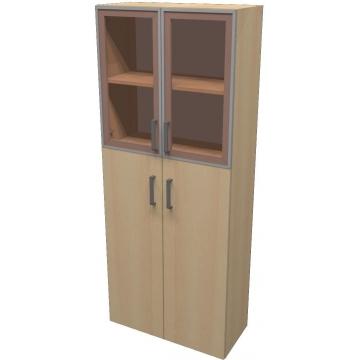 Шкаф для документов ПР601.8 (тонированное стекло)