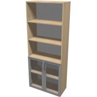 Шкаф для документов ПР601.9 (прозрачное стекло)